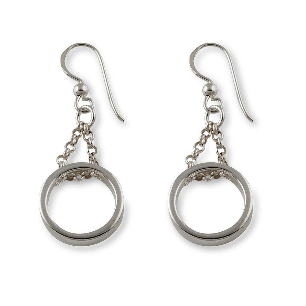 VON TRESKOW MEDIUM CHAINED CIRCLE EARRINGS