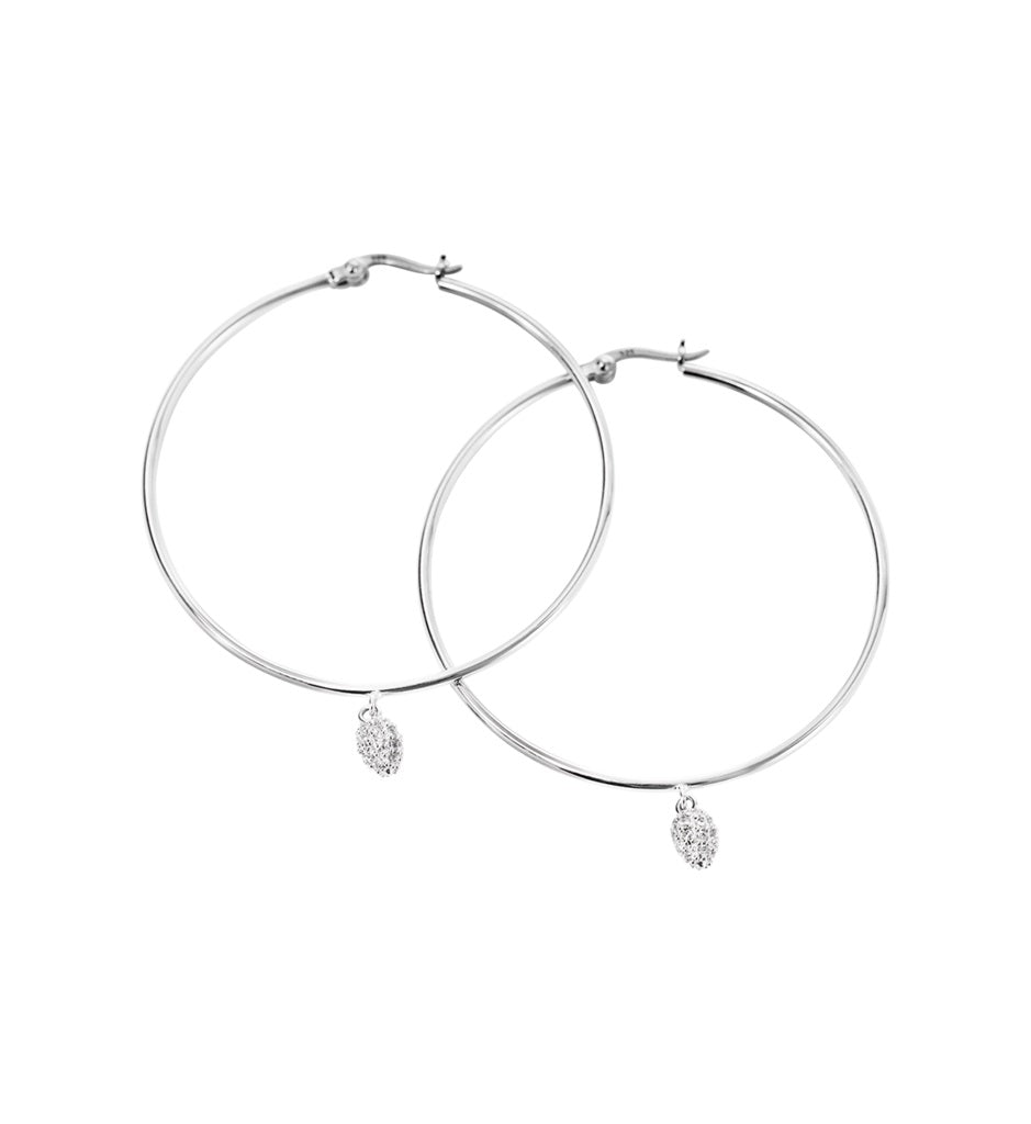 promo codes cheap for discount full range of specifications KIRSTIN ASH CRYSTAL DROP HOOP EARRINGS