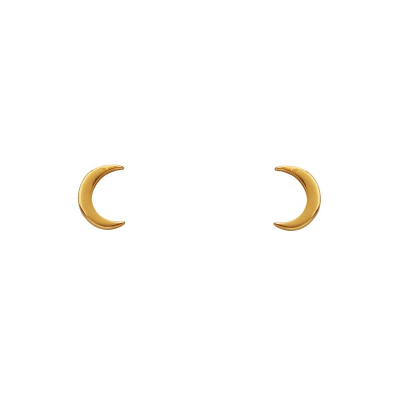 DAINTY MOON EARRINGS