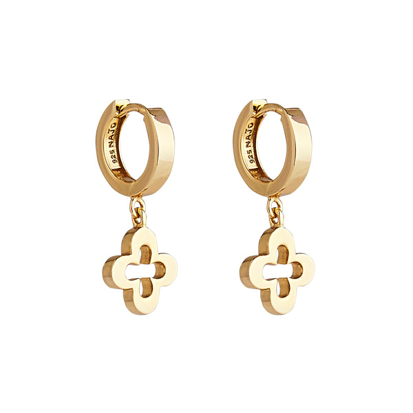 NAJO YELLOW LOST ISLAND CLOVER EARRING
