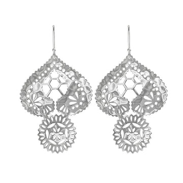 VINTAGE LACE DOILY EARRINGS