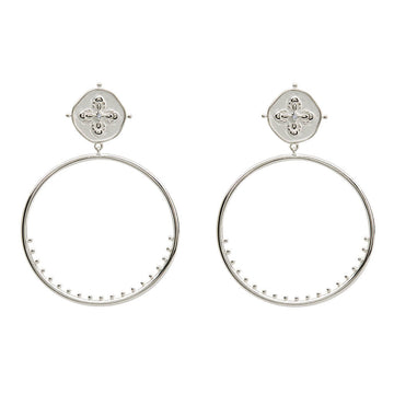SAHARA LARGE HOOP EARRINGS