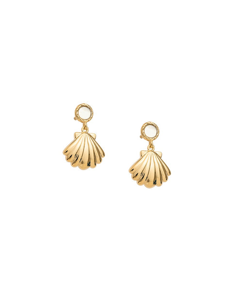 KIRSTIN ASH X OLIVE COOKE // BY THE SEA SEASHELL EARRINGS