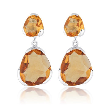 CITRINE DUET GEMSTONE EARRINGS
