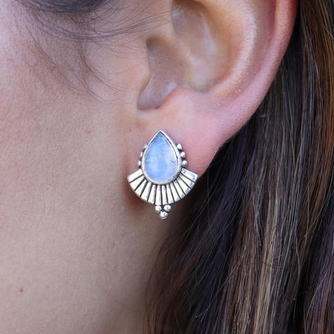 CLEOPATRA MOONSTONE EARRINGS