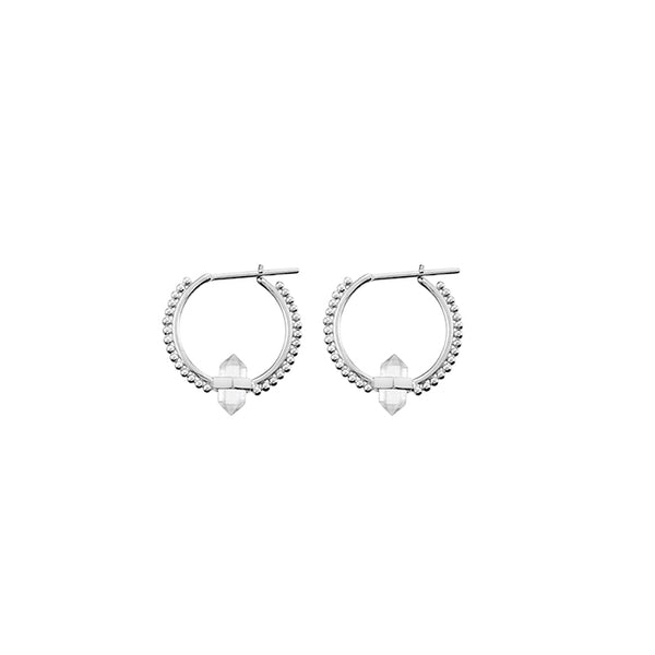 KRYSTLE KNIGHT ALLURE // ILLUSION CRYSTAL HOOPS SS
