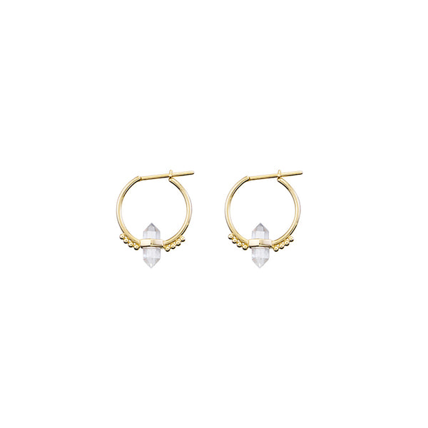 KRYSTLE KNIGHT ALLURE // DEJA VU CRYSTAL HOOPS YG