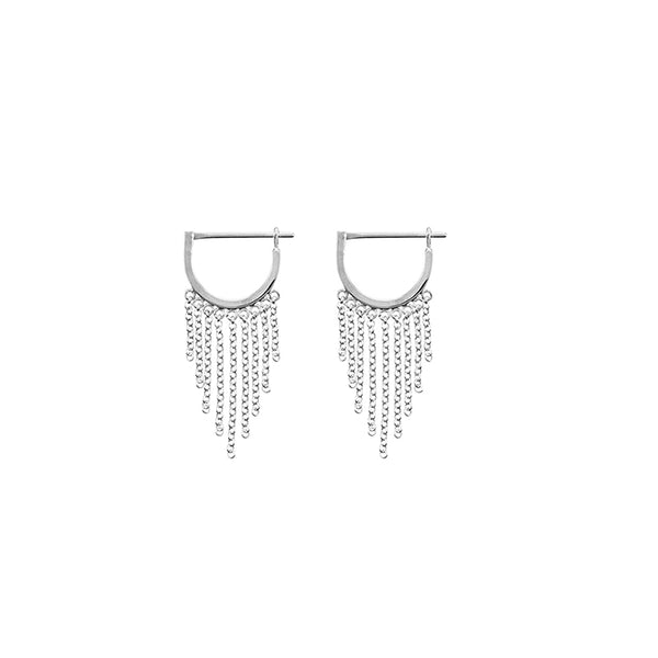 KRYSTLE KNIGHT ALLURE // LITTLE BODHI CHAIN HOOPS SS