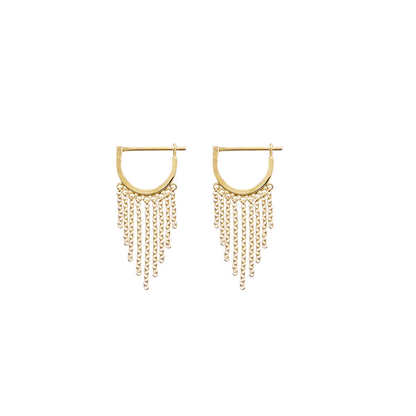 KRYSTLE KNIGHT ALLURE // LITTLE BODHI CHAIN HOOPS YG