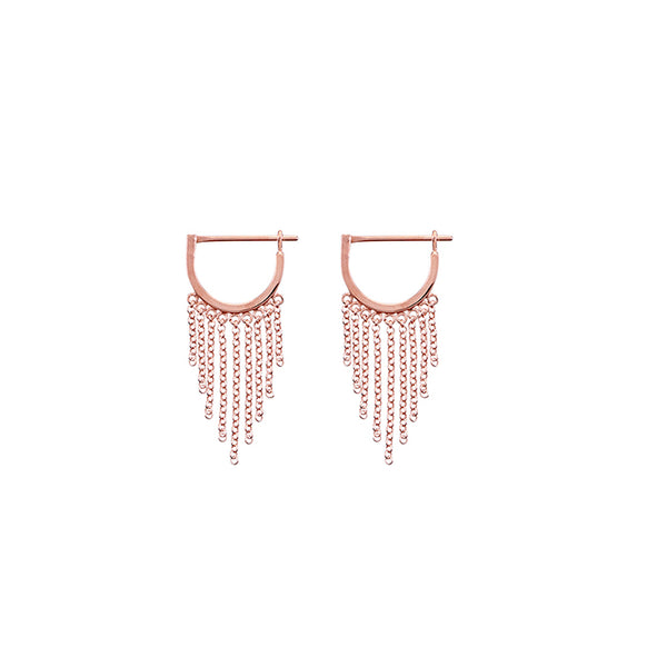 KRYSTLE KNIGHT ALLURE // LITTLE BODHI CHAIN HOOPS RG