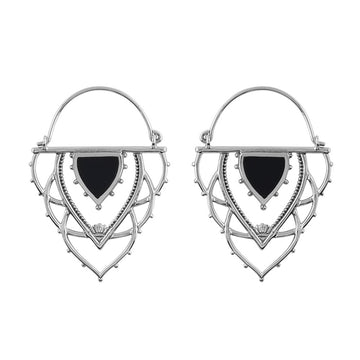 ANCIENT ARCHWAYS ONYX HOOPS