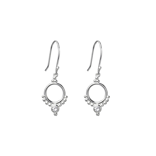 SILVERGIRL CIRCLE & ZIRCONIA EARRINGS