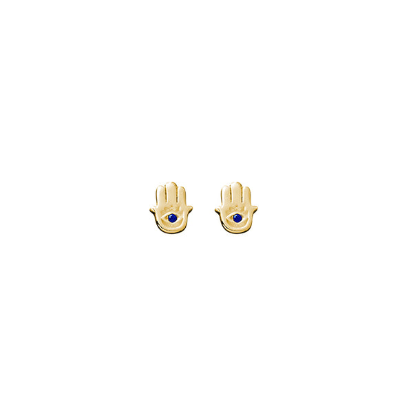 SILVERGIRL HAMSA STUD EARRINGS - YG