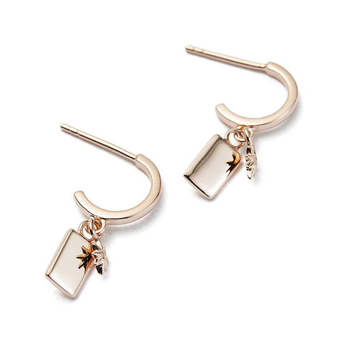 ROSE GOLD GUIDING STAR HOOPS
