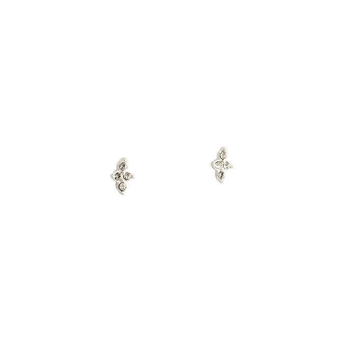 CRYSTAL FOUR DOT STUDS