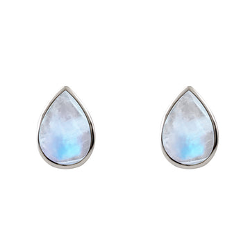 PEAR SHAPED MOONSTONE STUDS