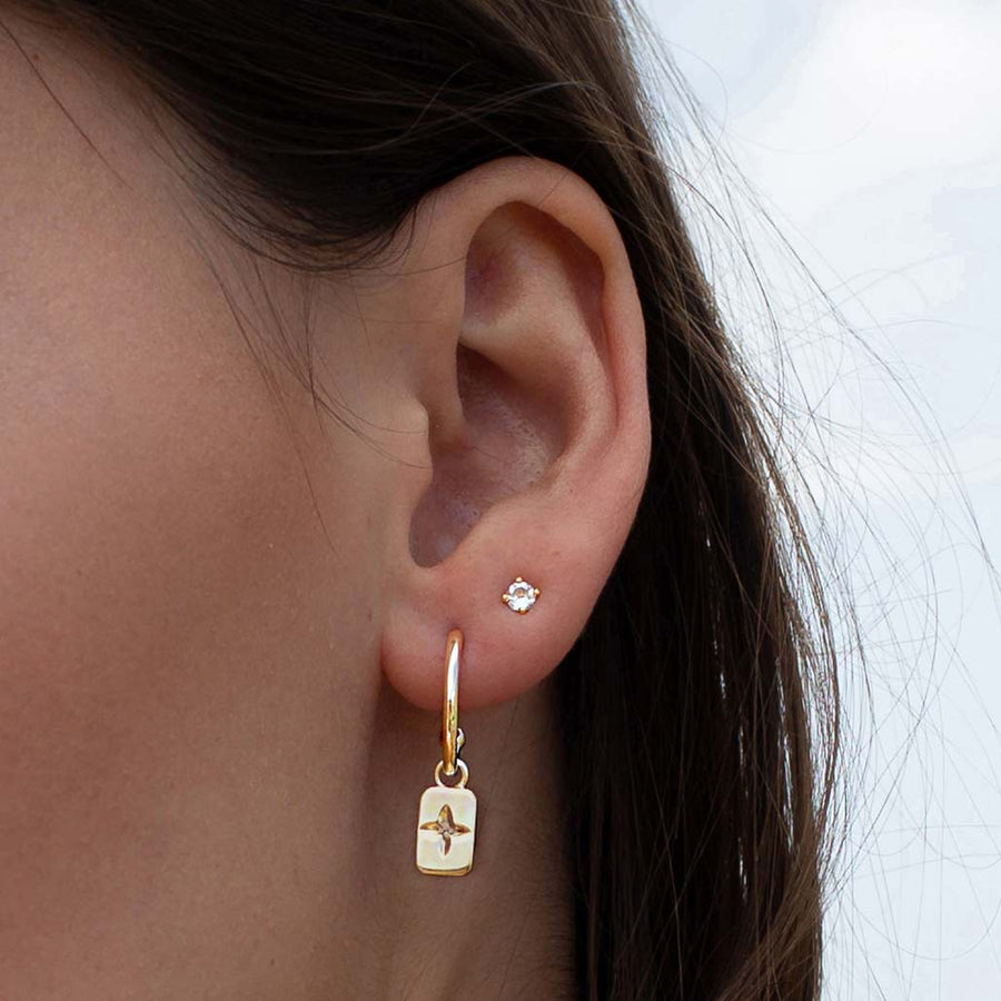 DESERT FLOWER | WHITE TOPAZ EARRINGS