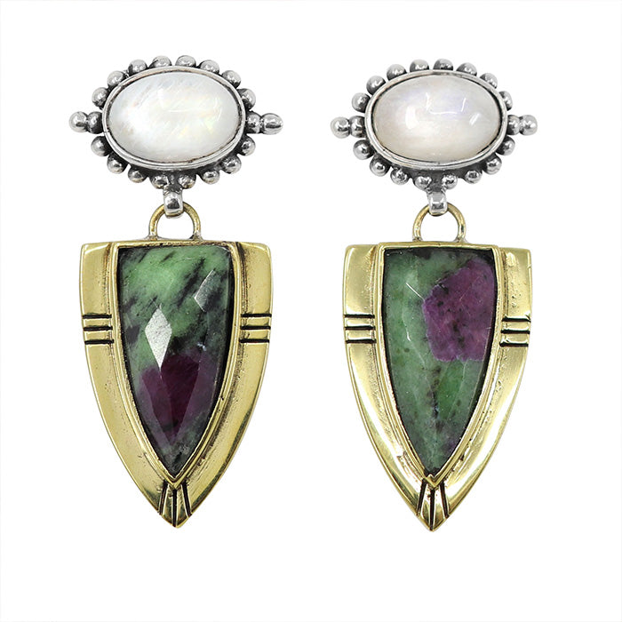 SOLARIS | RUBY ZOISITE CASSIUS EARRINGS