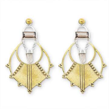 SOLARIS | QUARTZ CHANDELIER EARRINGS