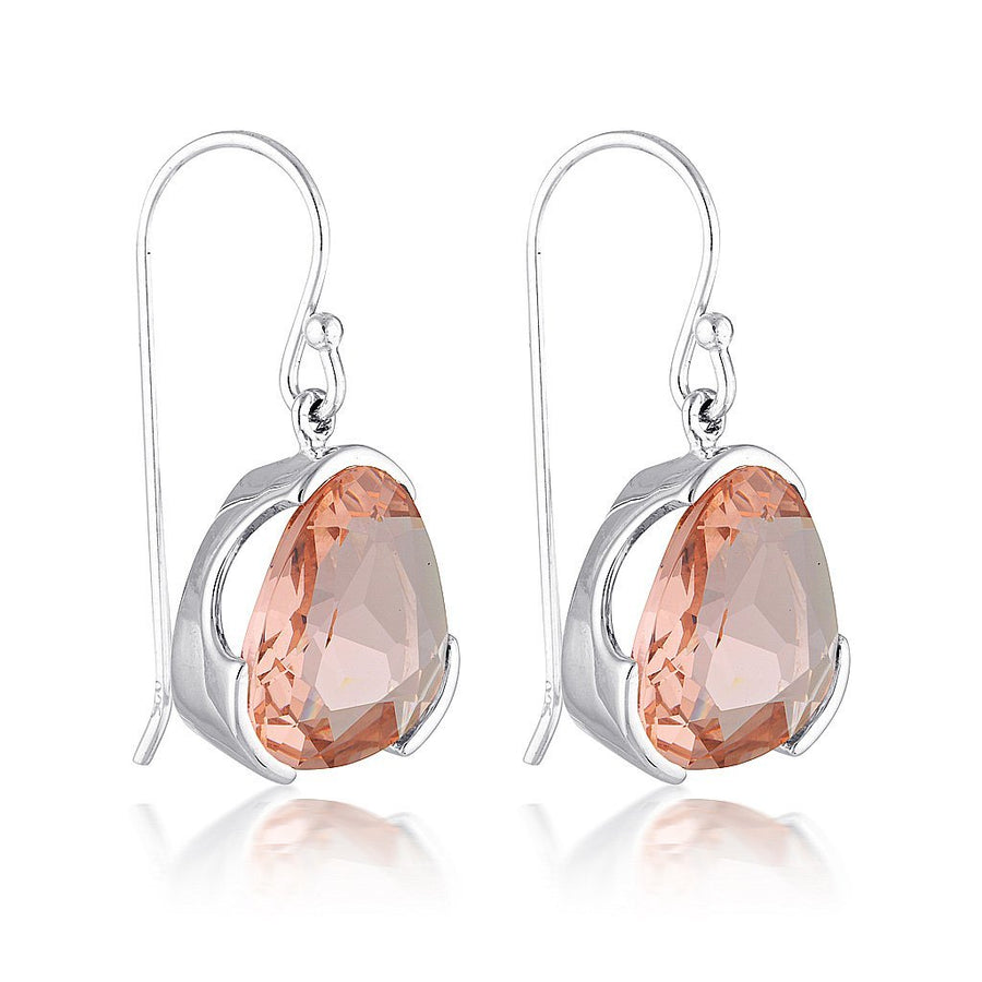 BLUSH QUARTZ GEMSTONE EARRINGS