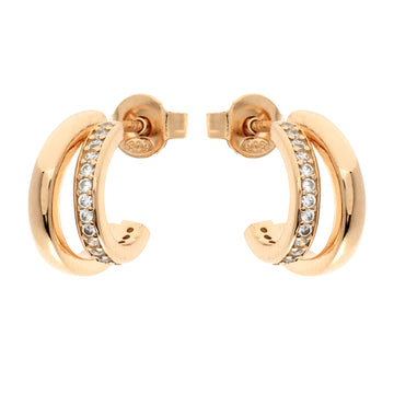 YELLOW GOLD STUD EARRING WITH ZIRCONIA