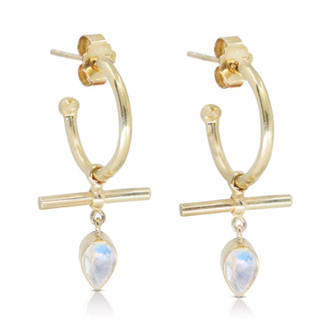 PARAGON | MOONSTONE BAR HOOPS