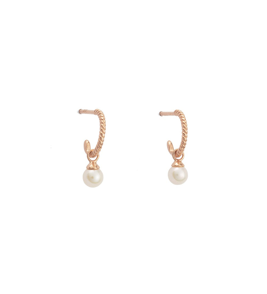 TINY PEARL HOOPS