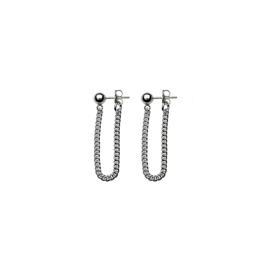 CURB LOOP EARRINGS
