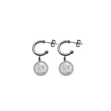 AUSTRALIAN TOKEN HOOP EARRINGS