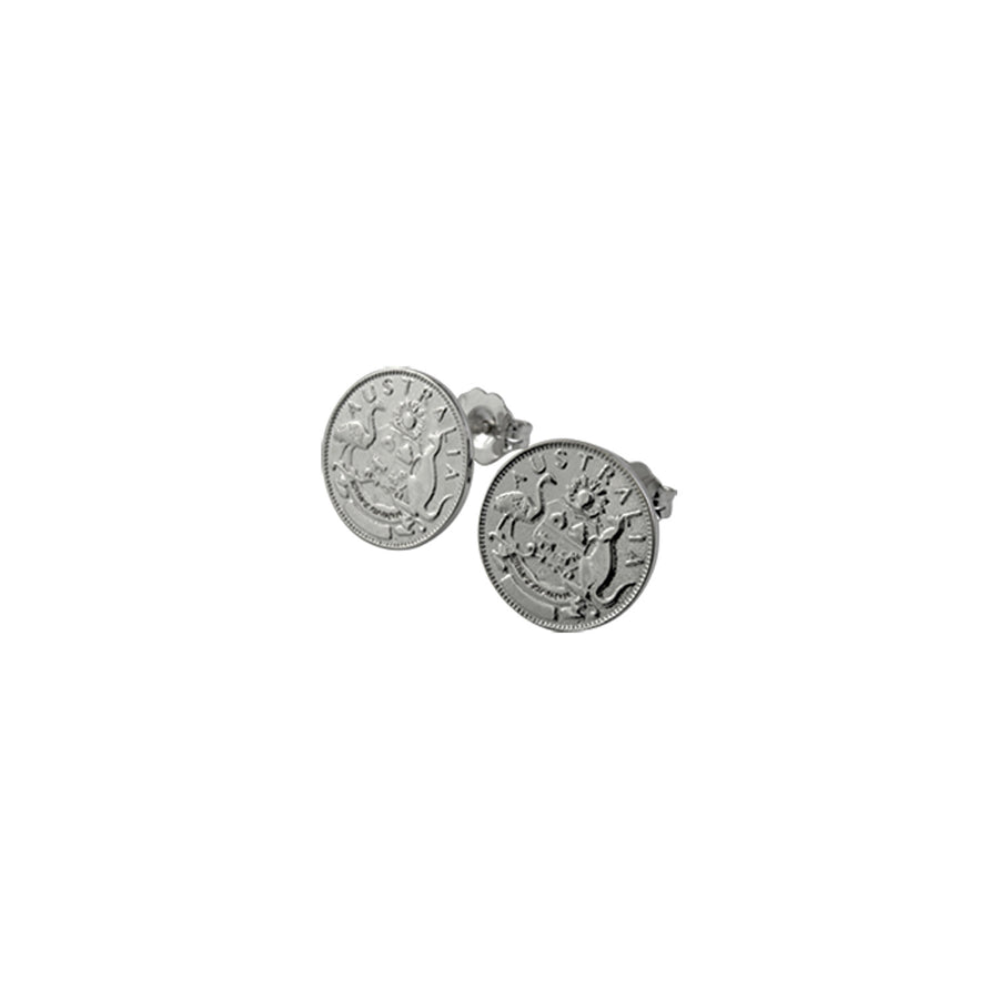 AUSTRALIAN TOKEN STUD EARRINGS