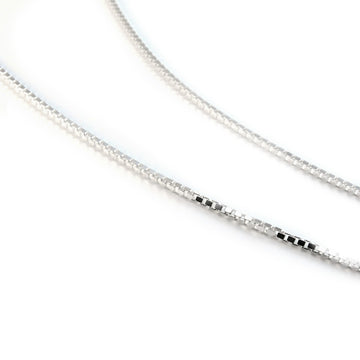 SILVERGIRL 1MM BOX CHAIN 46CM