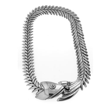 FISH SKELETON NECKLACE