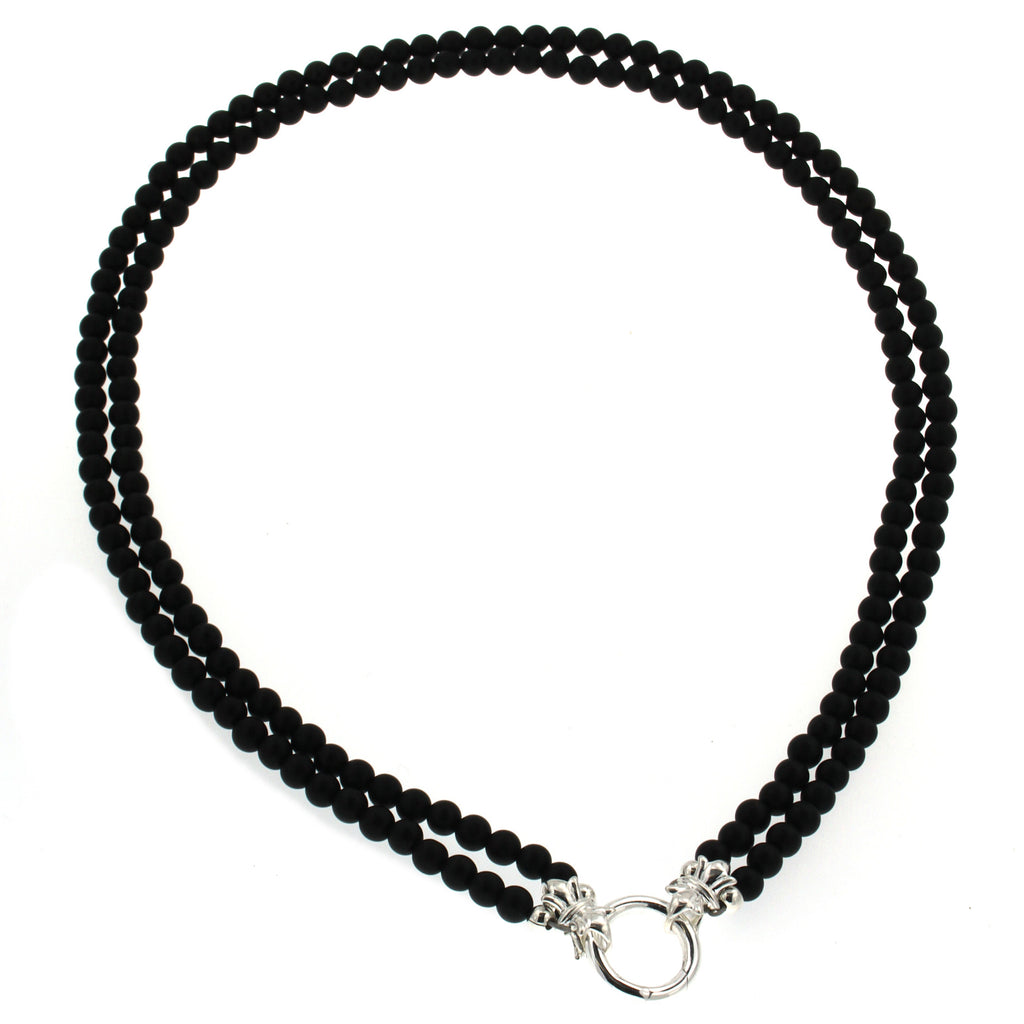 COTTON & CO 5MM EBONY NECKLACE 49CM