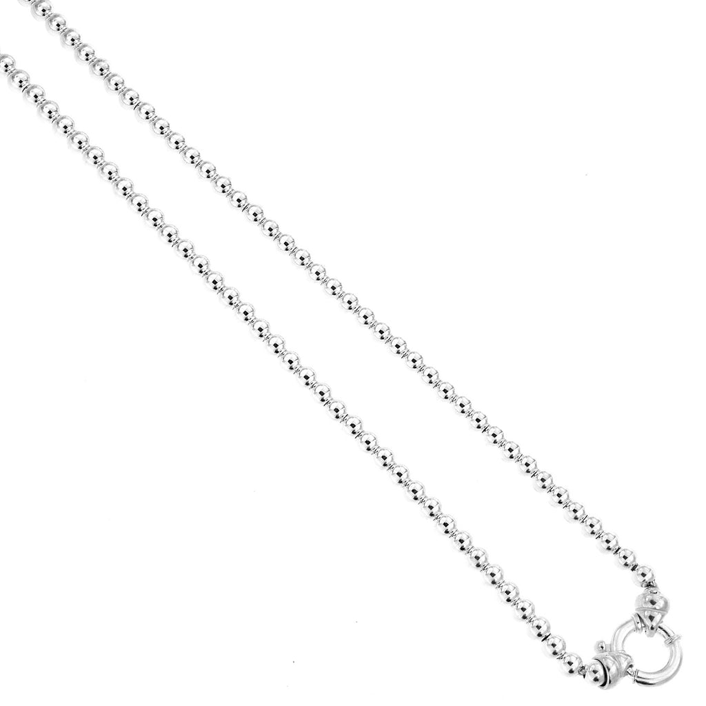 COTTON & CO 5MM BALL NECKLACE 45CM