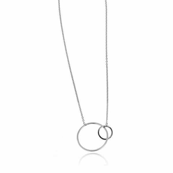 SILVERGIRL DOUBLE CIRCLES NECKLACE