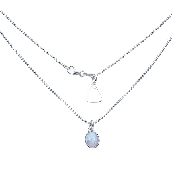 VON TRESKOW WHITE CELLINE OPAL NECKLACE