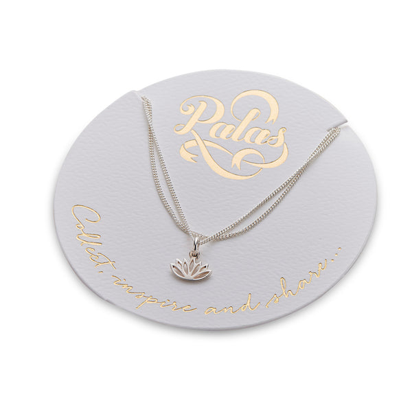 PALAS CELEBRATION LOTUS CHARM NECKLACE