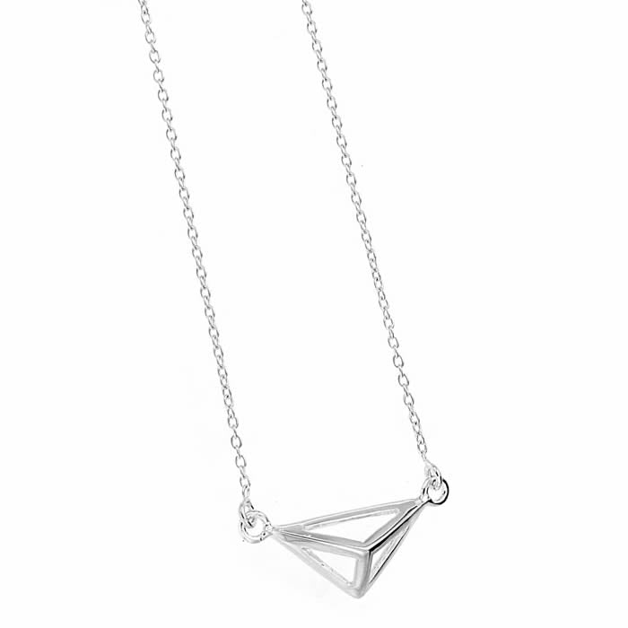 SILVERGIRL ABSTRACT TRIANGLE NECKLACE