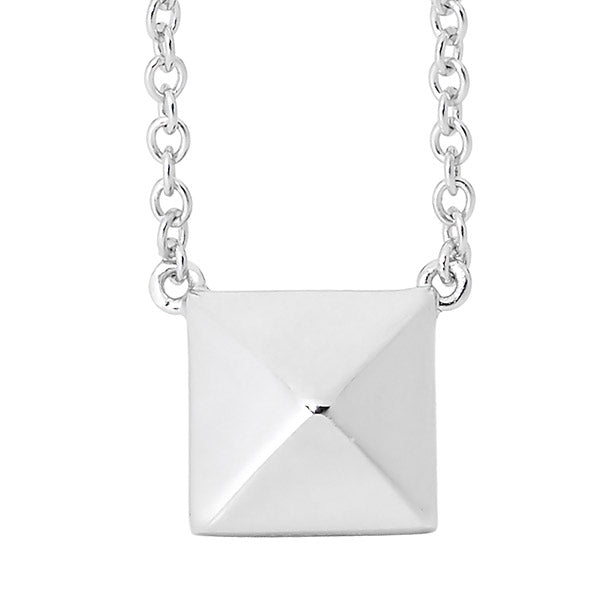 GEORGINI RAISED SQUARE NECKLACE