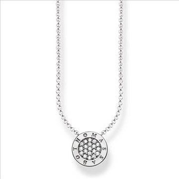 CLASSIC PAVE SILVER NECKLACE