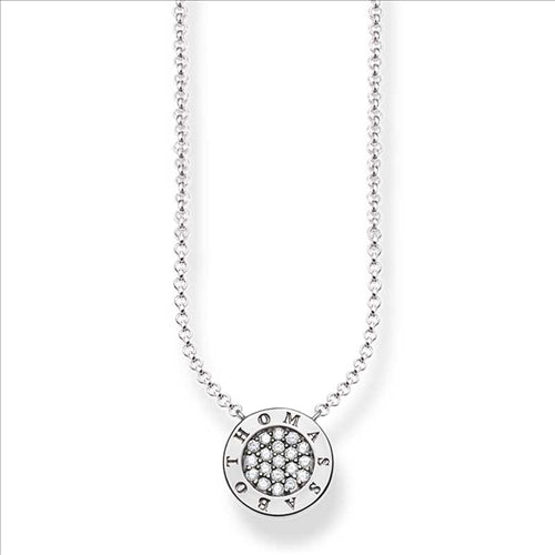 THOMAS SABO CLASSIC PAVE SILVER NECKLACE