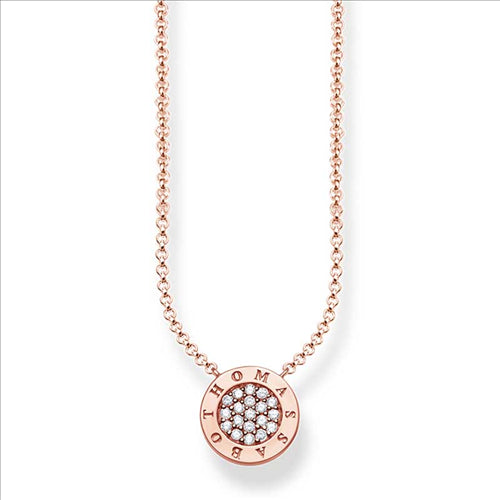 THOMAS SABO CLASSIC PAVE ROSE GOLD PLATED NECKLACE