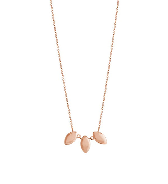 KIRSTIN ASH ROSE GOLD PLATED TRIO NECKLACE