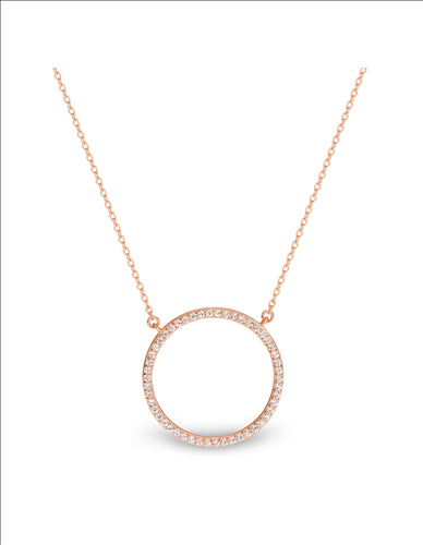 GEORGINI VIRGO ROSE GOLD PENDANT