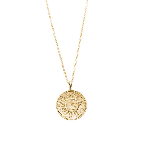 KIRSTIN ASH GOLDEN SUN COIN NECKLACE