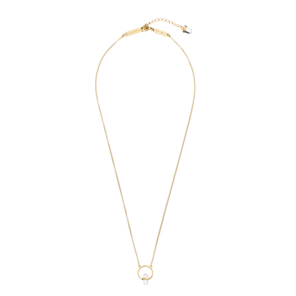 KRYSTLE KNIGHT TEENY TINY CRYSTAL AURA NECKLACE