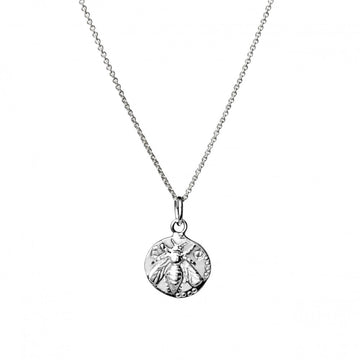 SILVERGIRL BEE DISC NECKLACE