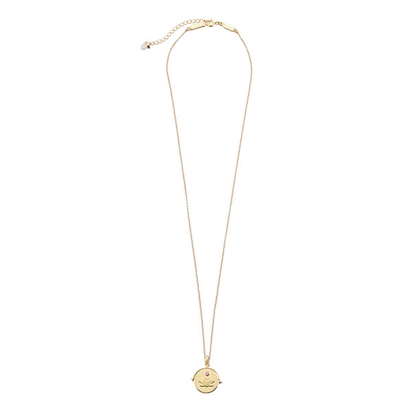 KRYSTLE KNIGHT ALLURE // BLOOMING LOTUS COIN NECKLACE YG