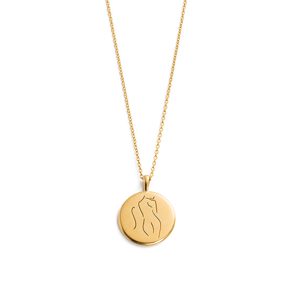 KIRSTIN ASH SHE // BELIEF AMULET NECKLACE YG