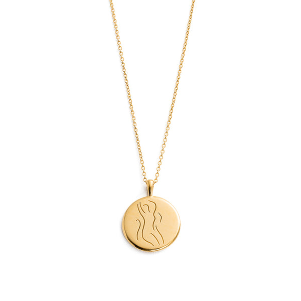 KIRSTIN ASH SHE // VITALITY AMULET NECKLACE YG